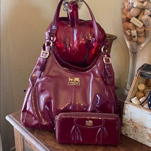 Coach Madison Maggie purse and wallet set
